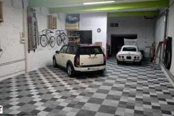 Dalles de sol clipsables dalles pour garage sol - Revetement sol pour garage ...
