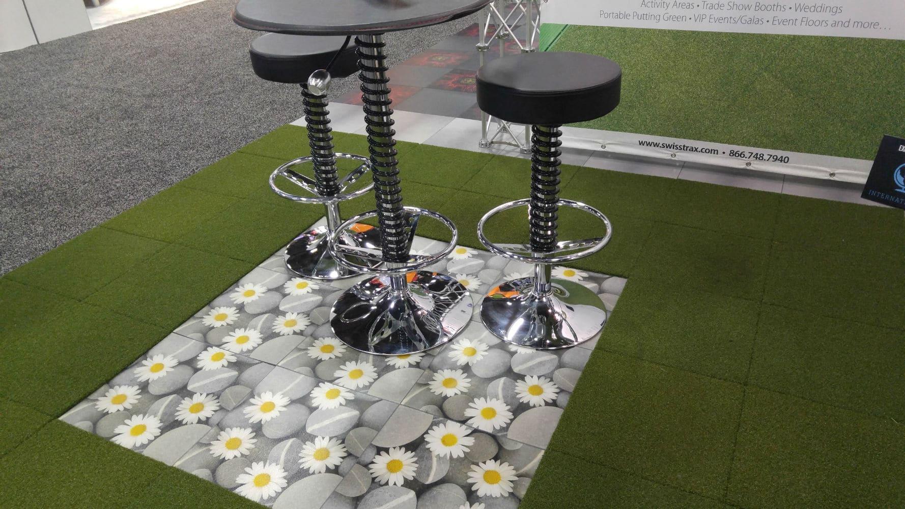 sol pour salons et stands exposition dalles clipsables pour stand. Black Bedroom Furniture Sets. Home Design Ideas