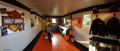sol garage pour harley davidson