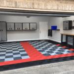 sol pour garage réalisé en dalles clipsables
