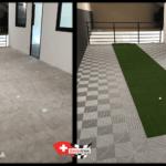 amenagement d'une mezzanine avec dalles de sol clipsable swisstrax