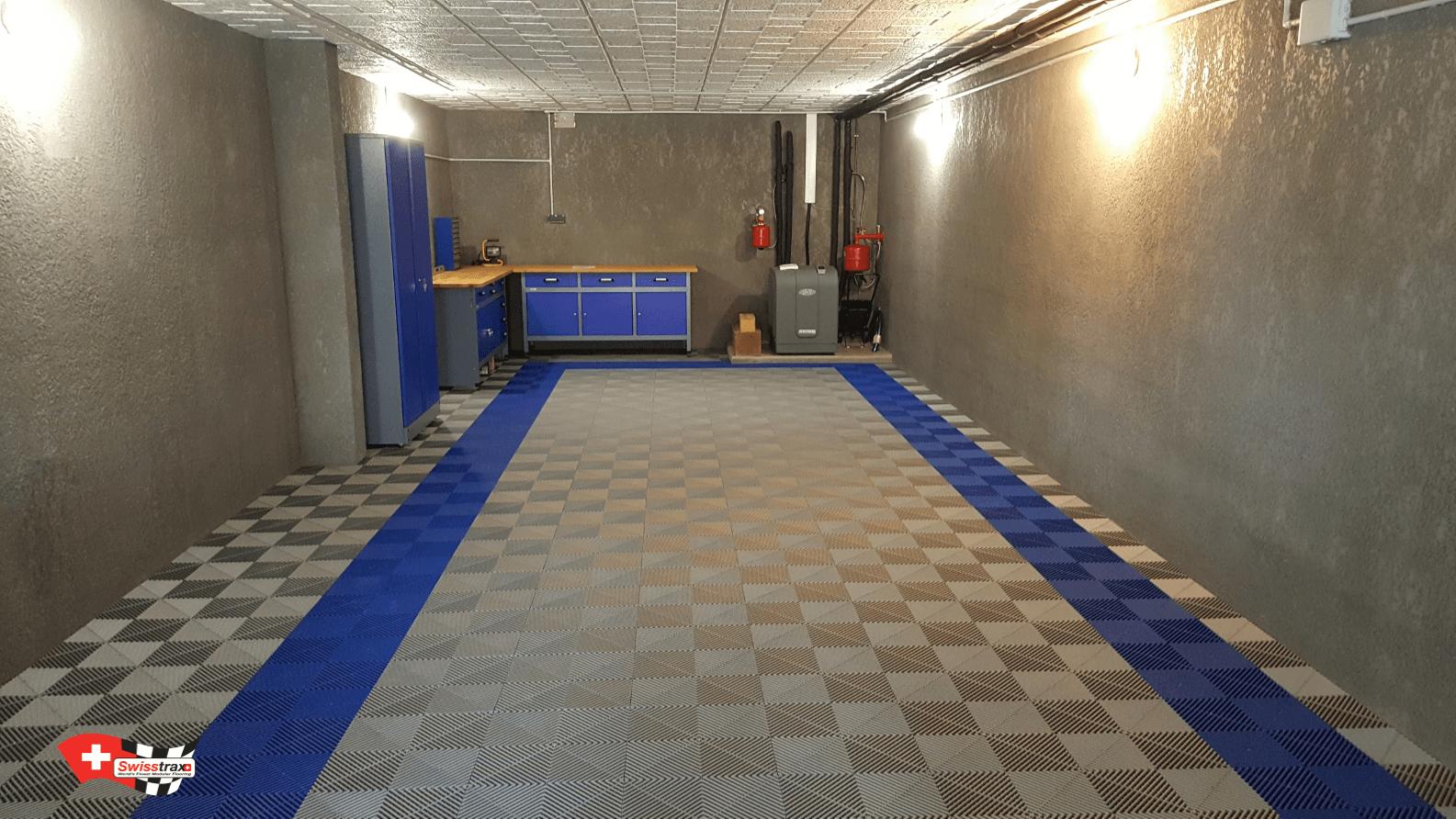 sol pour garage réalisé en dalles de sol