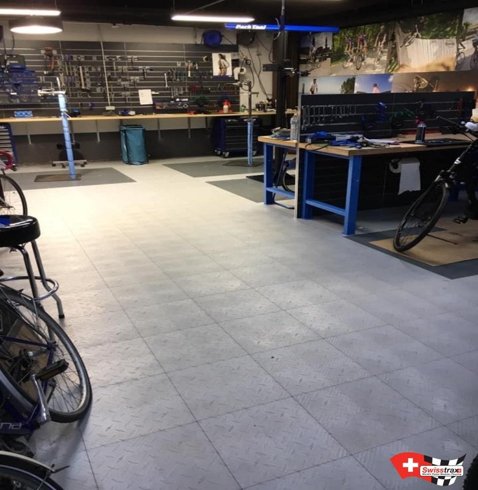 sol pour atelier vélo