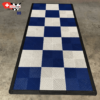 tapis pour moto blanc et bleu