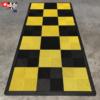 tapis moto jaune et noir