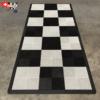 tapis moto noir et blanc