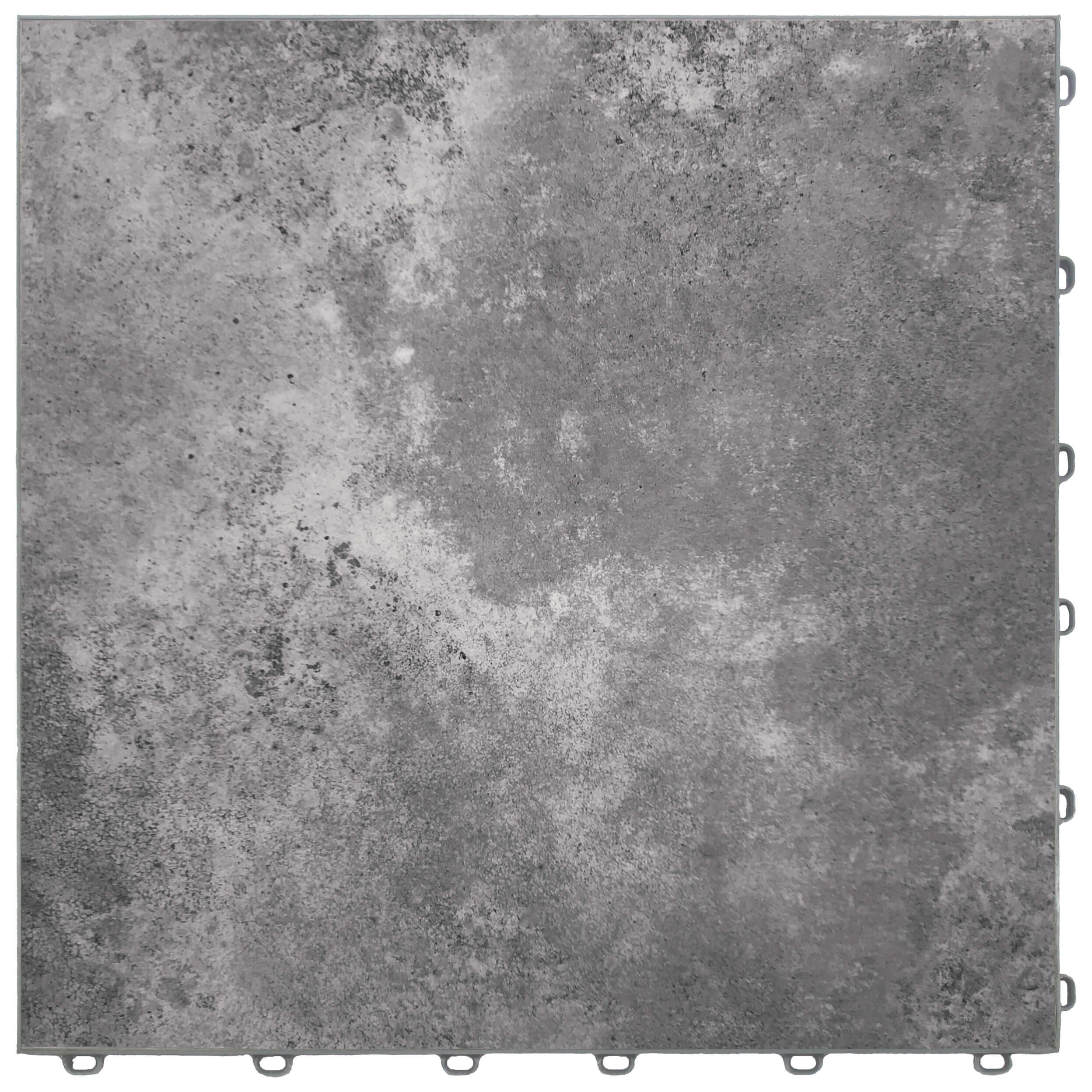 Polished concrete floor tiles