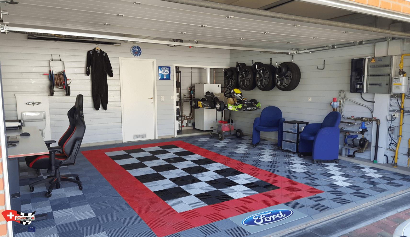 dalles clipsables pour garage