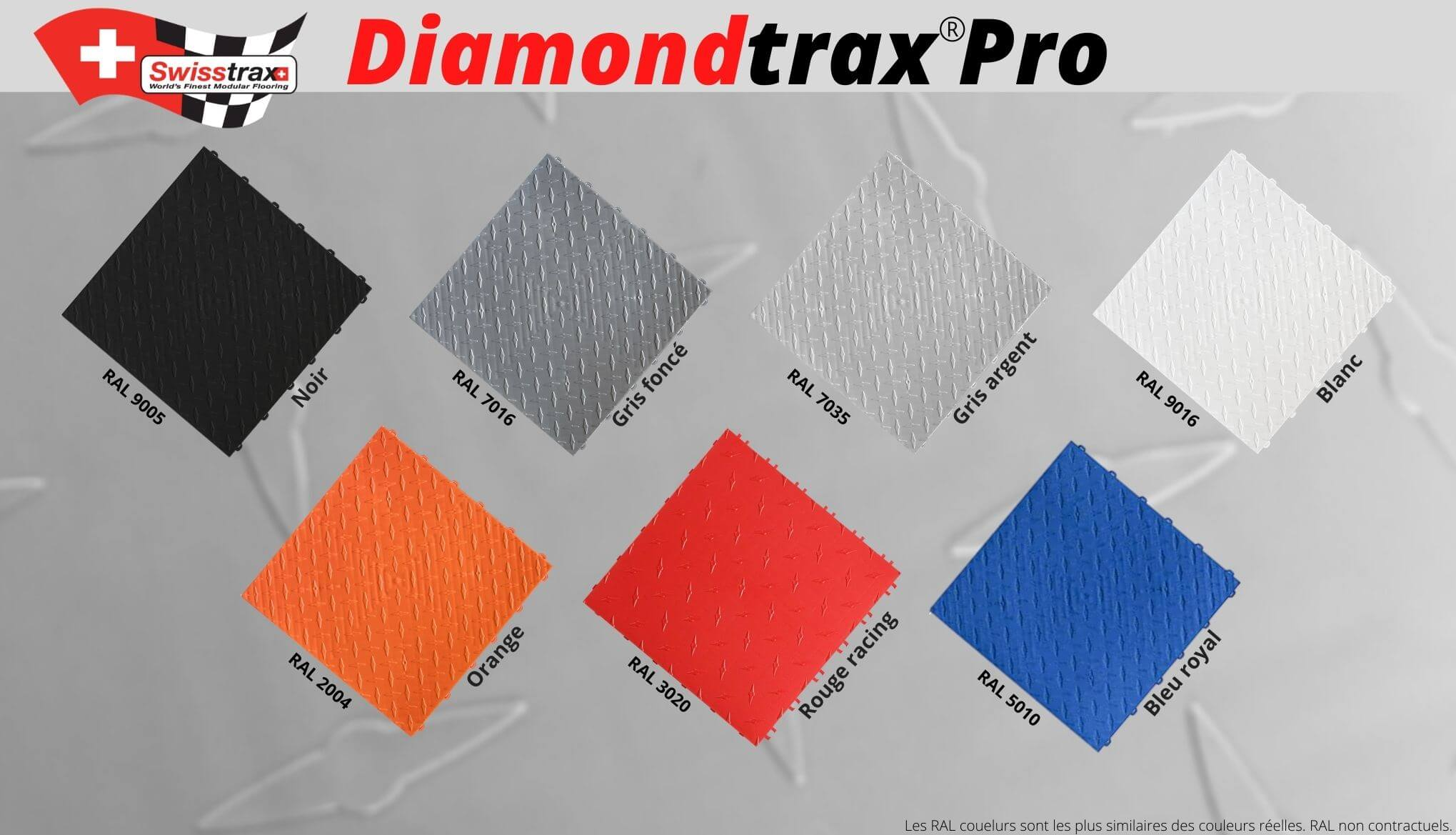 couleurs dalles de sol diamondtrax