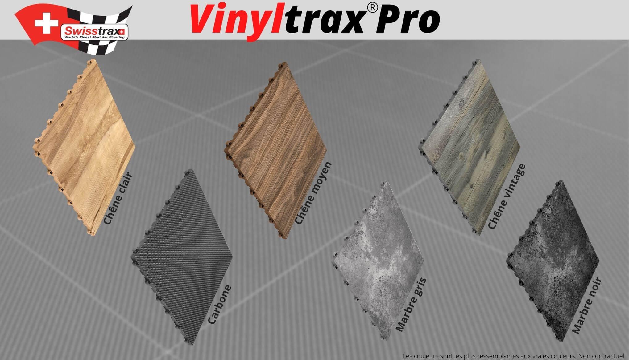 couleurs dalles de sol vinyltrax