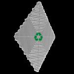 dalle de sol recyclée gris